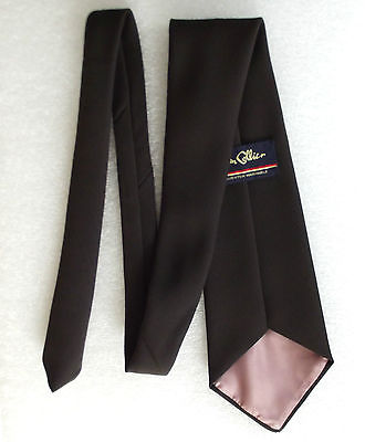 1960s charcoal brown kipper tie by JOHN COLLIER Very wide Smart vintage item